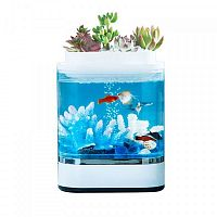 купить Аквариум аква-ферма Xiaomi Descriptive Geometry Mini Lazy Fish Tank (HF-JHYG005) White (Белый) в Казани